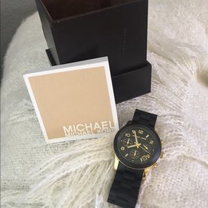 Michael Kors Catwalk Black Gold Unisex Watch